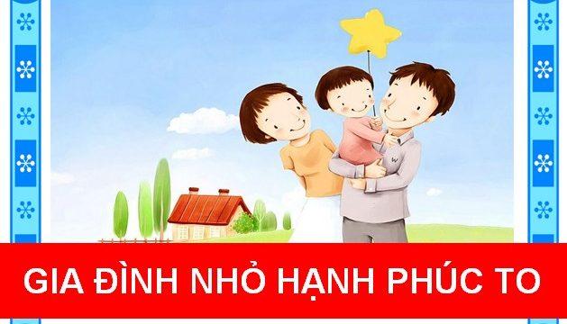 Gia đình nhỏ hạnh phúc to
