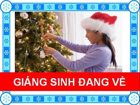 Giáng sinh đang về
